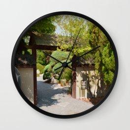 Entrance gate of the Japanese garden Wall Clock