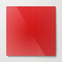Red And Black subtle pattern Metal Print