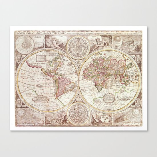An Accurate Map Canvas Print
