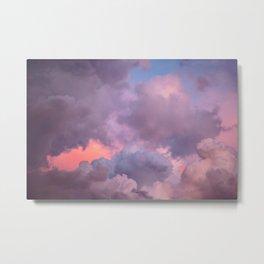 Pink and Lavender Clouds Metal Print