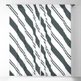PPG Night Watch Pewter Green  and Dark Green Stripes Angled Lines Blackout Curtain