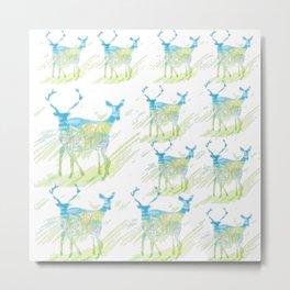 Deer Pattern Metal Print