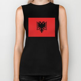 National flag of Albania - Authentic version Biker Tank