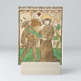 Saint Bernard Vanquishing the Devil. 15th century Mini Art Print
