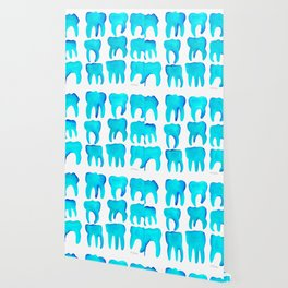 Turquoise Molars Wallpaper
