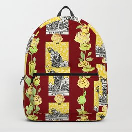 Strength - A floral tarot pattern Backpack