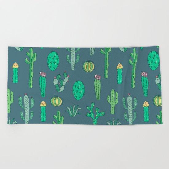 Cactus Pattern II Beach Towel