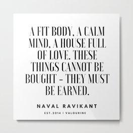 1   |Naval Ravikant Quotes Series  | 190618 Metal Print