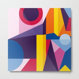 Abstract modern geometric background. Composition 2 Metal Print