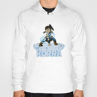 the legend of korra Hoodies featuring Korra by HelloTwinsies