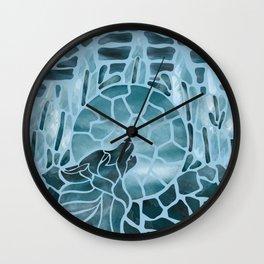 Moonlight Story (Light Blue) Wall Clock