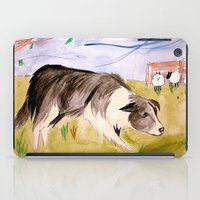 border collie iPad Cases featuring Border Collie by Caballos of Colour