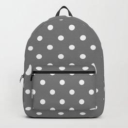 Grey & White Polka Dots Backpack