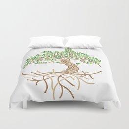 Rope Tree of Life. Rope Dojo 2017 white background Duvet Cover