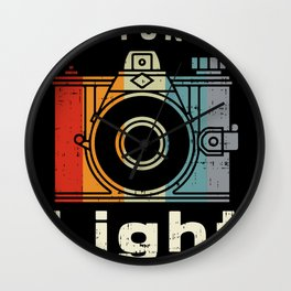 Capturing Light Camera Vintage Camera Photographers Gift Wall Clock