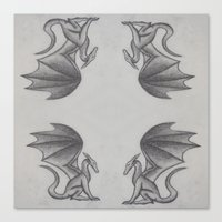 dragons Canvas Prints featuring Dragons by Dan Minnis