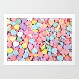 Happy Valentine's Day Candy Hearts Art Print