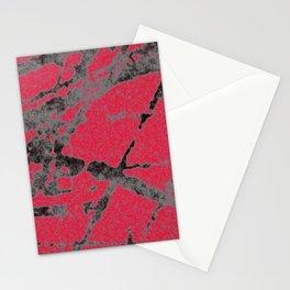 red black scratchy grunge Stationery Cards