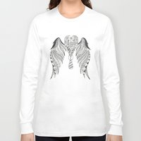 angel wings Long Sleeve T-shirts featuring Totally Tangled Angel Wings by Totally Tangled Creations
