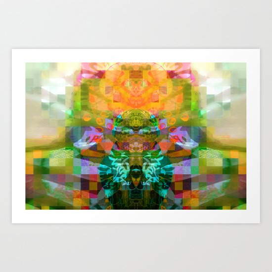 The Robot Alien Driving spaceship With Angry Face and Toad's Eyes  Art Print