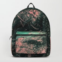 Standing // acrylic painting, pink & green Backpack