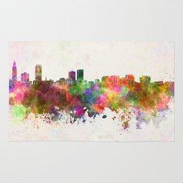 Baton Rouge skyline in watercolor background Rug