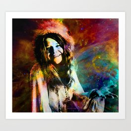 1970 Woman Of Rock And Roll By Annie Zeno Art Print