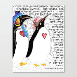 Clothe Yourselves with Compassion Canvas Print