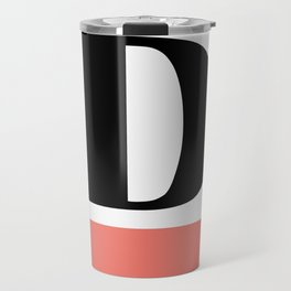 Monogram Letter D-Pantone-Peach Echo Travel Mug