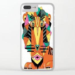 Bauhaus Lion Clear iPhone Case