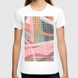 urban pastel grid color block print 1 T-shirt
