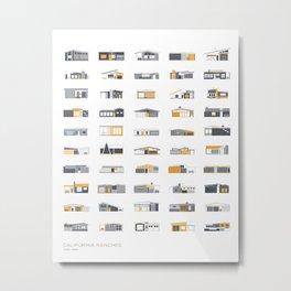 California Ranches Metal Print