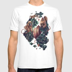 monkey temple Mens Fitted Tee MEDIUM White