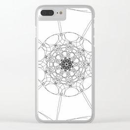 love mandala number 1 Clear iPhone Case