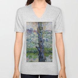 "Vincent Van Gogh ""View of Arles, Flowering Orchards"" Unisex V-Neck"