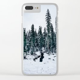 Dusting of Snow Clear iPhone Case