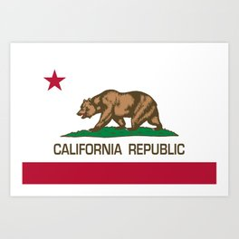 California Republic Flag, High Quality Image Art Print