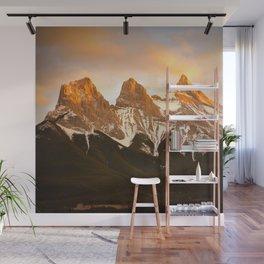 Three Sisters - Golden Peaks Wall Mural