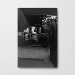 Silhouettes Of Southbank. Metal Print