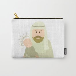 Saint Joseph and Baby Jesus Carry-All Pouch
