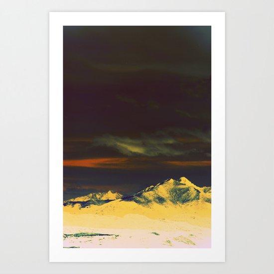 Inverted Peaks Art Print