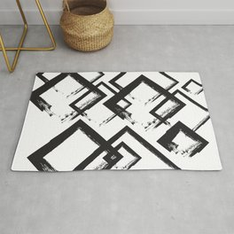 abstract geometry rectangles Rug