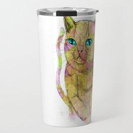 Coloured Cat Travel Mug