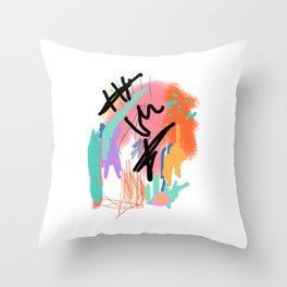 Scribbly by Ty Throw Pillow