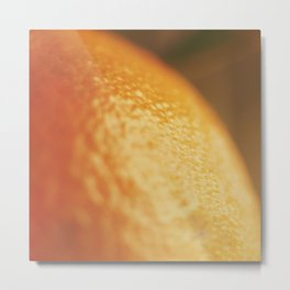 Orange peel, macro photography, fine art print, texture, for bar, home decor or interior desig Metal Print