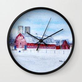 A Snowy Day Wall Clock