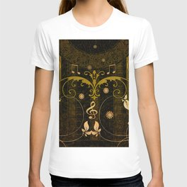 Music, clef and key notes T-shirt