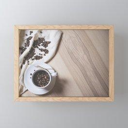 Beans in a Coffee Cup Framed Mini Art Print