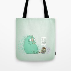Monster and Tea Tote Bag