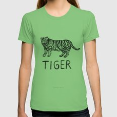 Tiger LARGE Womens Fitted Tee Grass